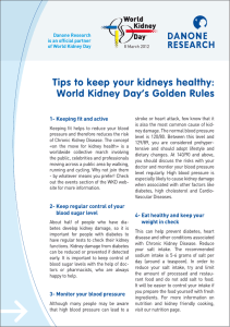 Tips to keep your kidneys healthy: World Kidney