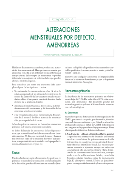 alteraciones menstruales por defecto. amenorreas