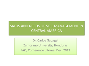 satus and needs of soil management in central america