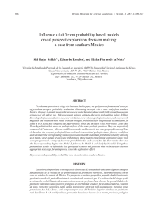Influence of different probability based models on oil prospect