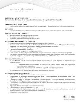 Ficha Pa 237 S De Seychelles Ministerio De Asuntos