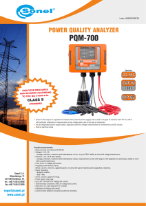 PQM-700 - Sonel S.A.