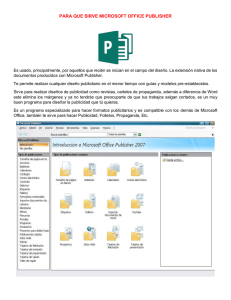 PARA QUE SIRVE MICROSOFT OFFICE PUBLISHER