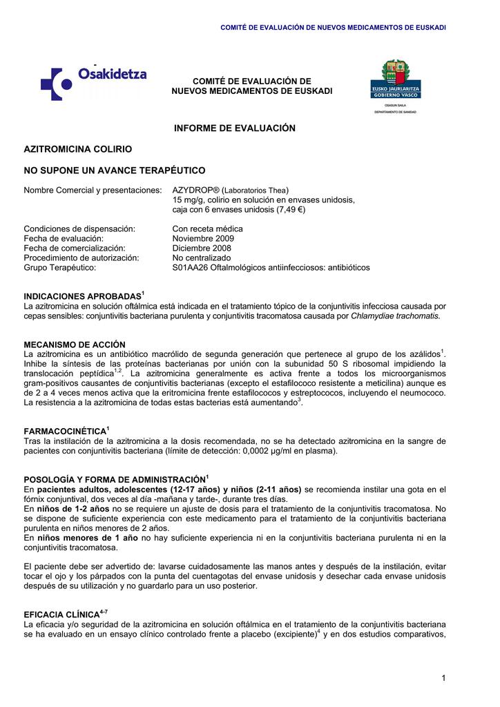 Conjuntivitis bacteriana tratamiento pdf