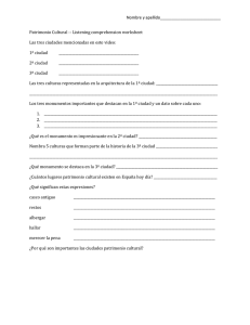 Listening comprehension worksheet Las tres ciudades menciona