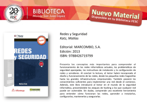Redes y Seguridad Katz, Ma as Editorial: MARCOMBO, S.A. Edición