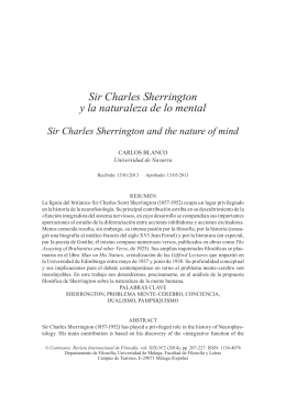 Sir Charles Sherrington y la naturaleza de lo mental