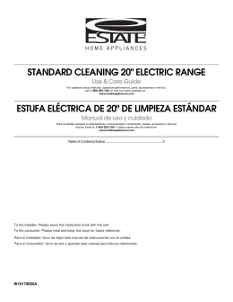 "standard cleaning 20"" electric range estufa eléctrica de 20"""