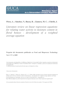 Literature review on linear regression equations for