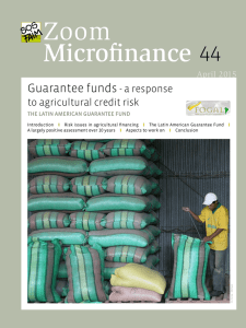 Guarantee funds - Microfinance Gateway