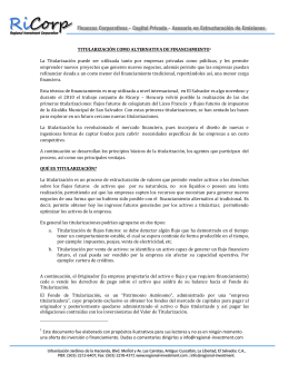 Titularización como alternativa de financiamiento