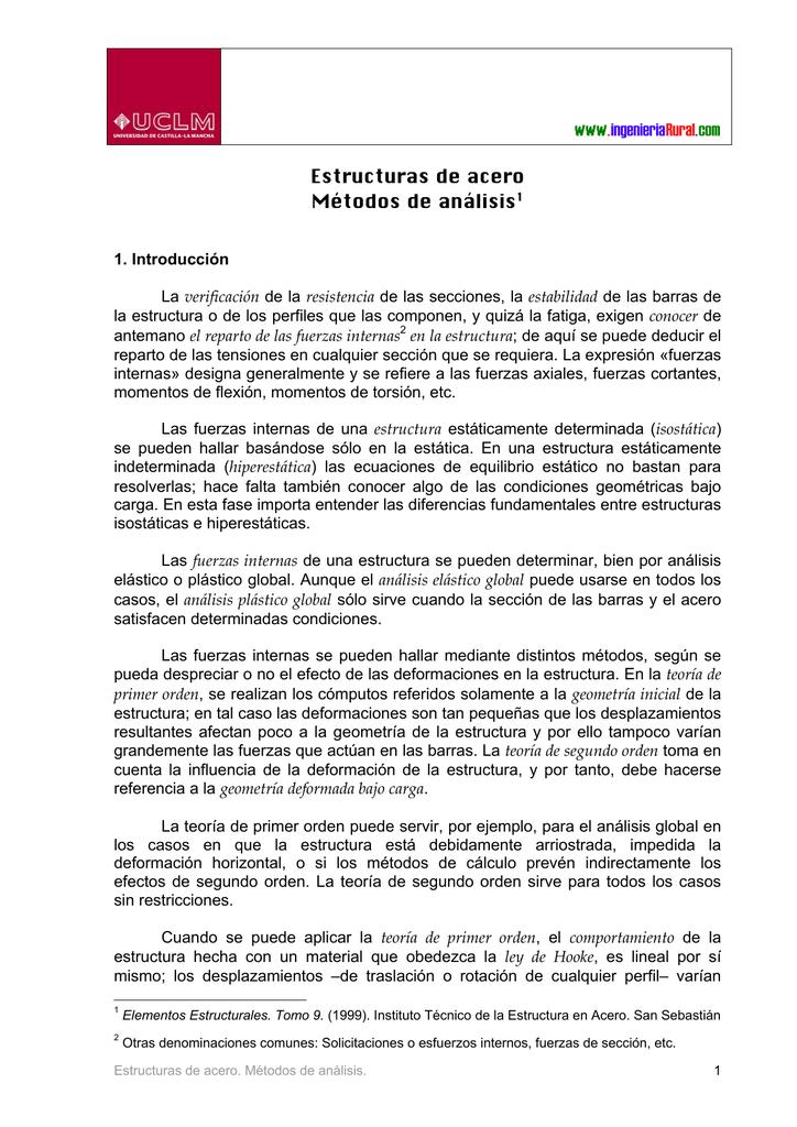 Estructuras De Acero Métodos De Análisis1