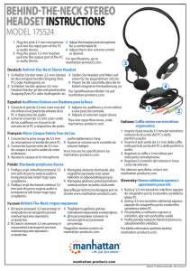 behind-the-neck stereo headset instructions