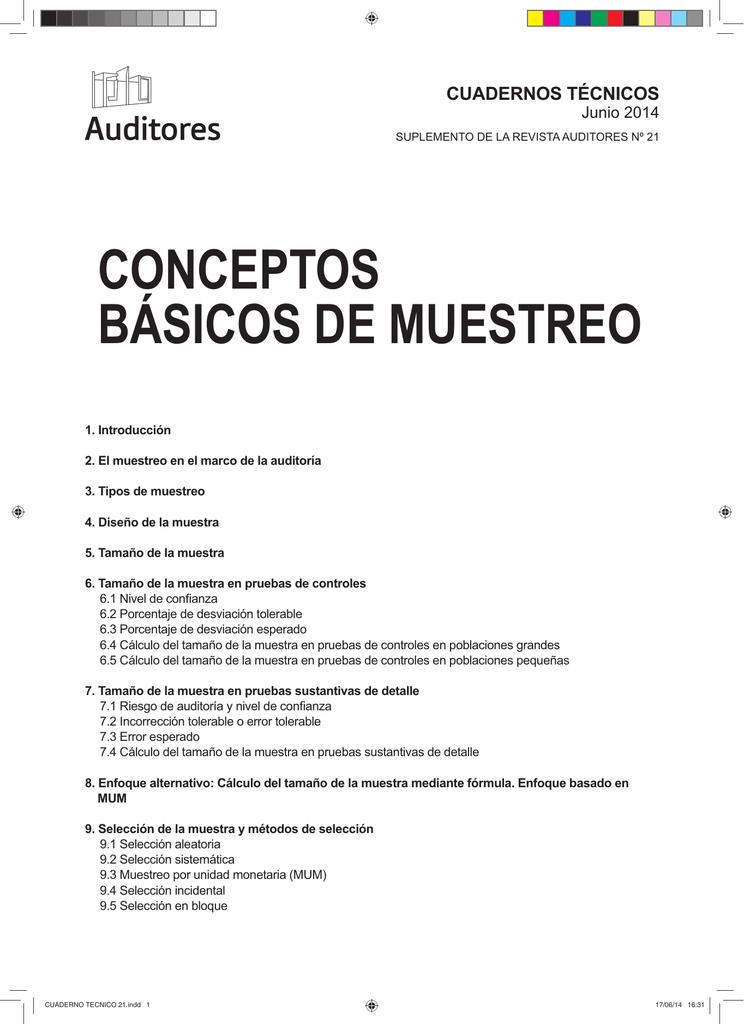 conceptos básicos de muestreo - Instituto de Censores Jurados de