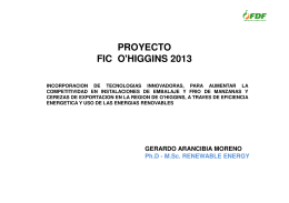 Proyecto FIC O`Higgins 2013