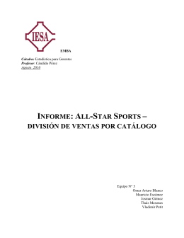 informe: all-star sports – división de ventas por