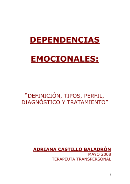 dependencias emocionales