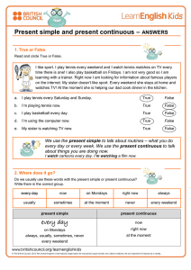 Print the answers - LearnEnglish Kids