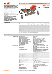 Technical data sheet EV..R+BAC