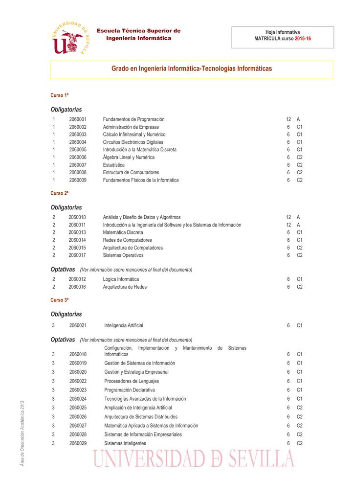 Grado En Ingeniería Informática Tecnologías Informáticas