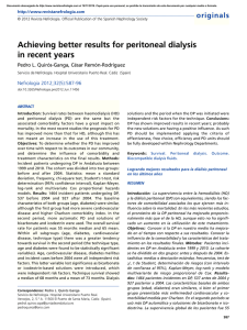 Achieving better results for peritoneal dialysis in recent years