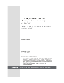 ECAES, SaberPro, and the History of Economic Thought at EAFIT*