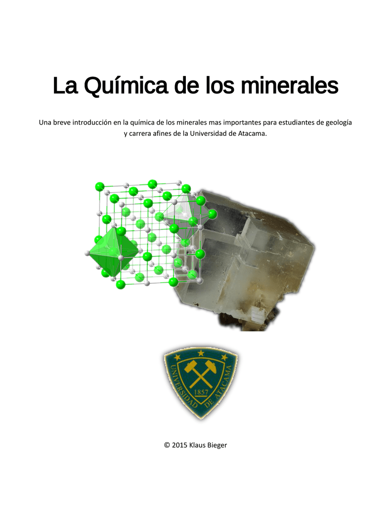 La Química De Los Minerales Moodle