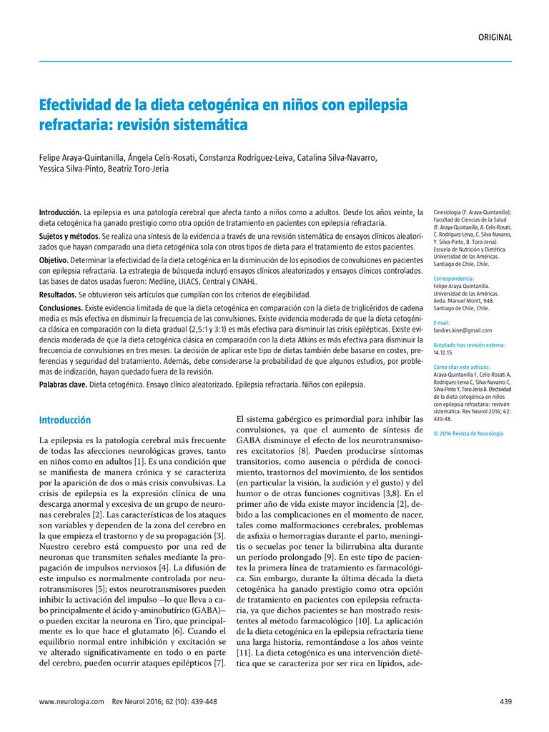 Dieta cetogenica en epilepsia