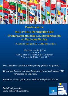 Meet the Interpreter - Facultad de Lenguas