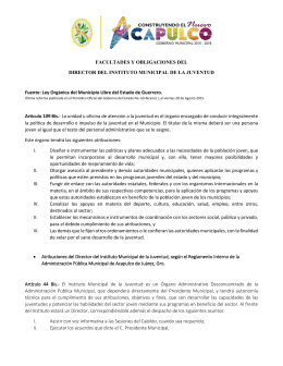 FACULTADES Y OBLIGACIONES DEL DIRECTOR DEL INSTITUTO