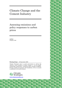 Climate Change and the Cement Industry