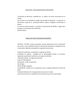 requisitos para contraer matrimonio.