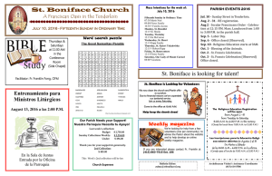 St. Boniface Church St. Boniface is looking for talent!
