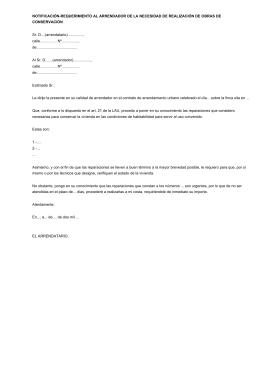 Modelo de contrato de alquiler de habitaciones for Contrato plaza garaje