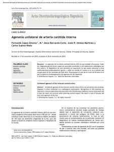 la agenesia carotídea interna es una enfermedad rara e