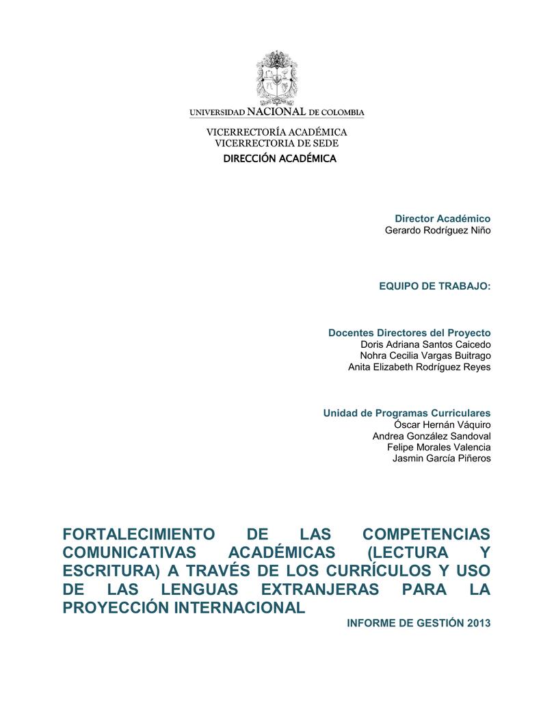 FORTALECIMIENTO DE LAS COMPETENCIAS COMUNICATIVAS