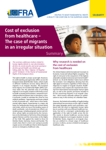 Cost of exclusion from healthcare