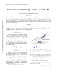 papapetrou`s equations of motion for an extended test body