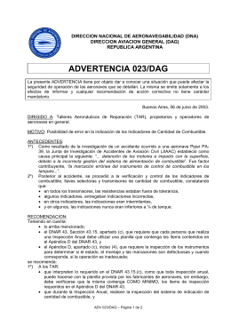ADVERTENCIA 023/DAG