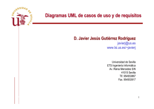 Diagramas UML de casos de uso y de requisitos