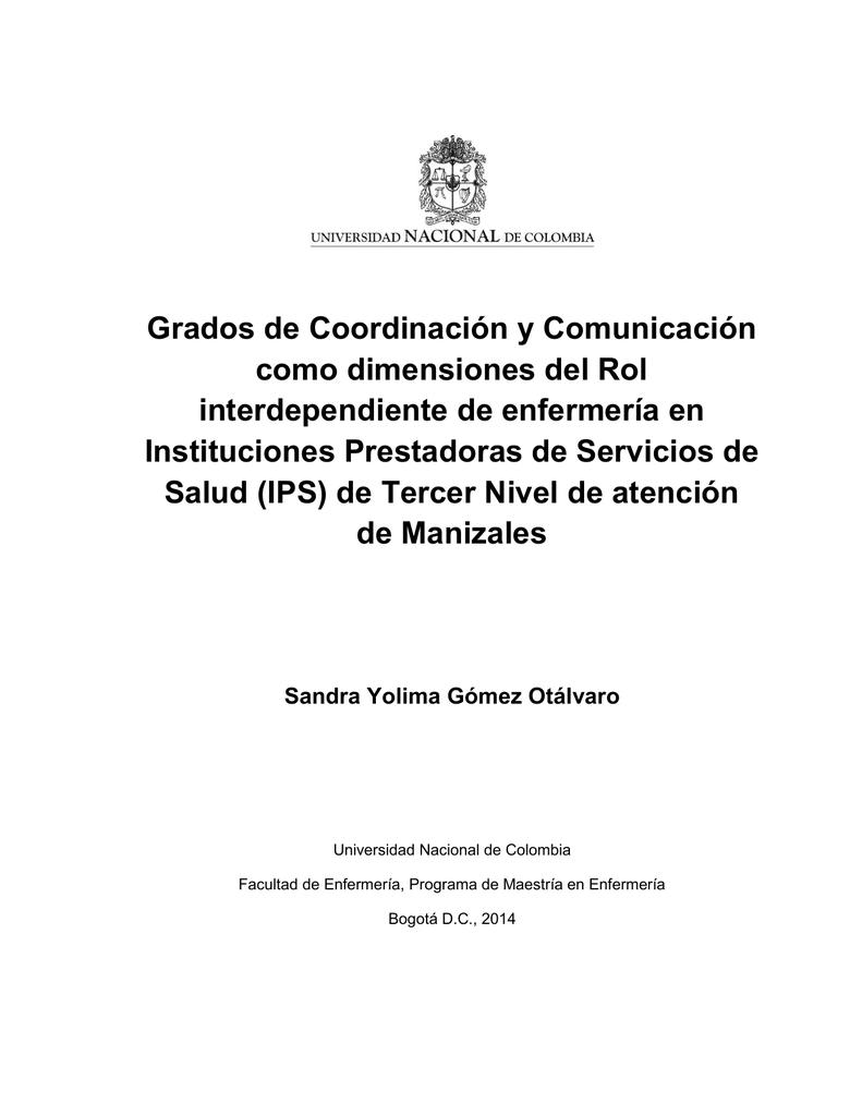 Grados de Coordinación y Comunicación como dimensiones del