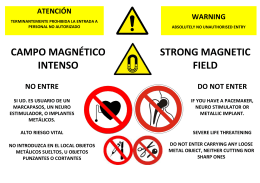 CAMPO MAGNÉTICO INTENSO STRONG MAGNETIC FIELD