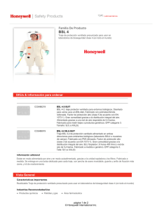 Descargar hoja de datos - Honeywell Safety Products