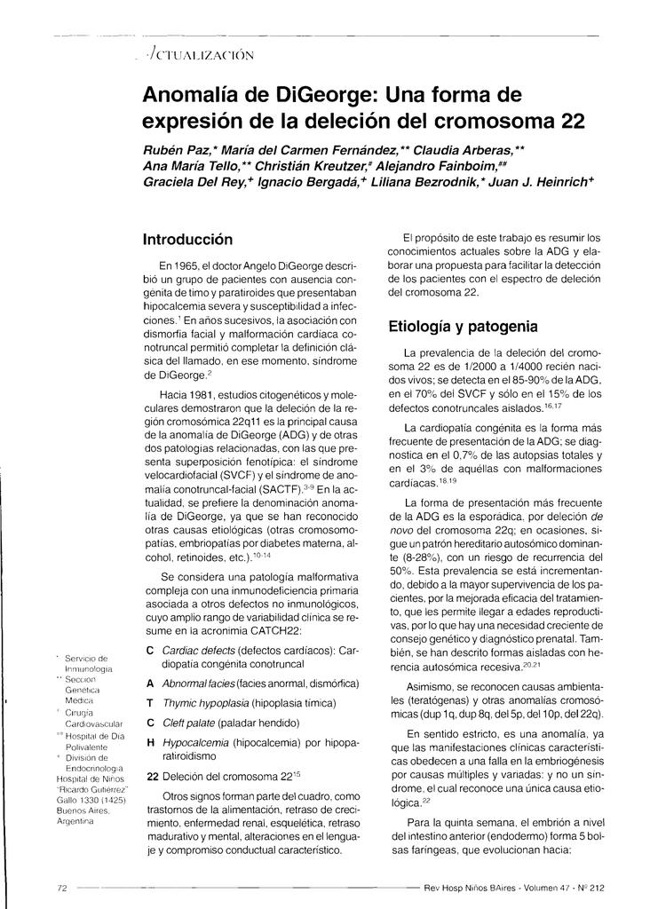 Síndrome de deleción 22q incidencia de diabetes