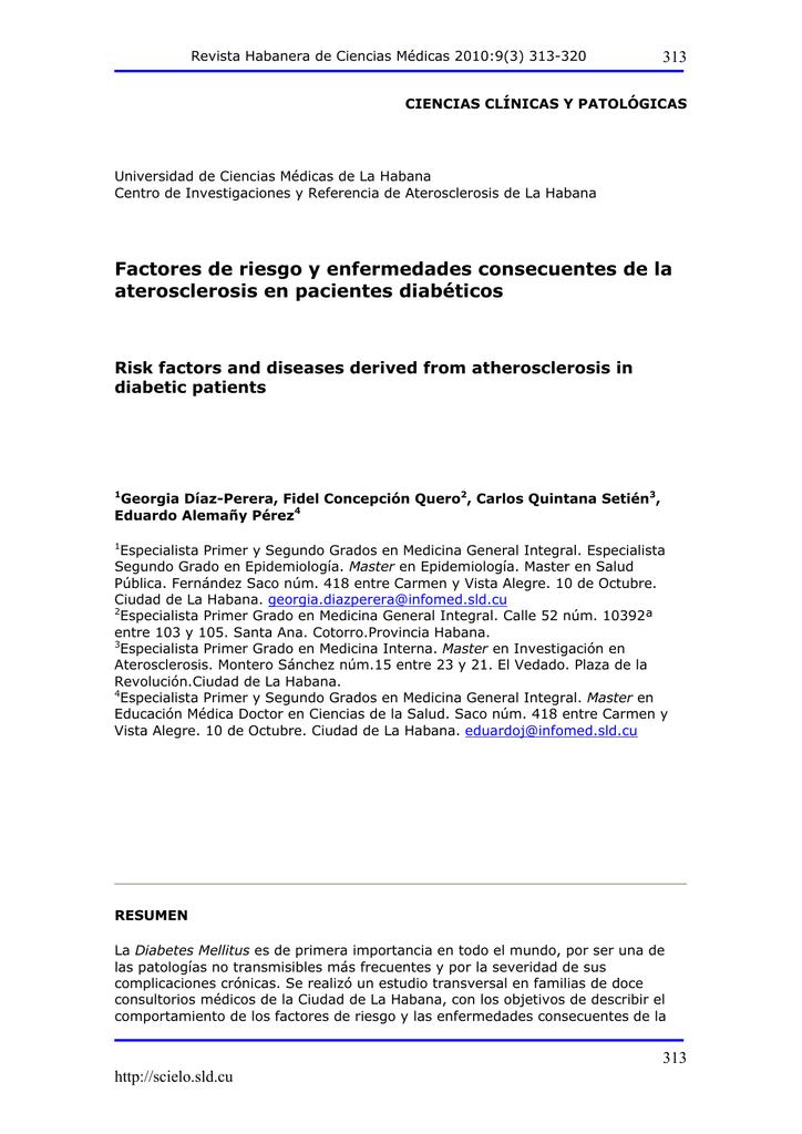 complicaciones de la diabetes mellitus tipo 2 scielo argentina