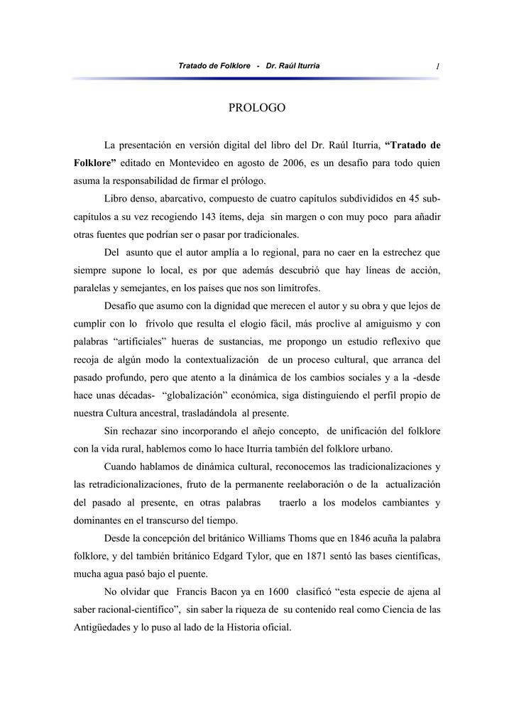 Tratado de Folklore - Estudios históricos