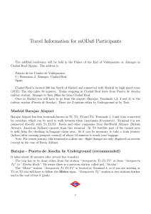 Travel Information for mODa8 Participants