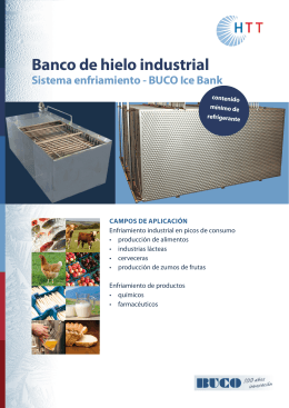 Banco de hielo industrial - Heat Transfer Technology AG
