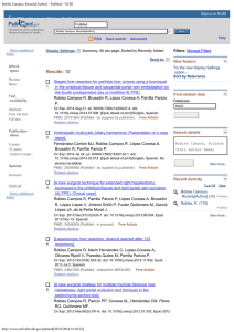 Robles Campos, Ricardo[Author] - PubMed