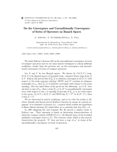 On the Convergence and Unconditionally Convergence of Series of